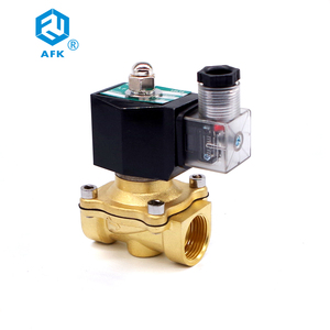 Image 3 - 2 Way Lpg Brass Gas Solenoid Valve 3/4 220VAC DN20 Electric 24V Normally Closed 150degree