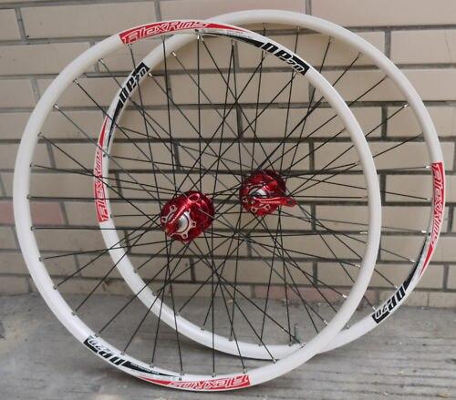 ALEX DP20 Novatec HUB Disc wheelset WHEEL SET RED WHITE MTB 26 INCH FOR MTB