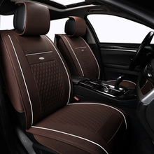 Leather car seat cover set For Audi a3 a4 b6 b8 a6 a5 q7 car cushion Car Seats Protector Auto Interior styling front and rear