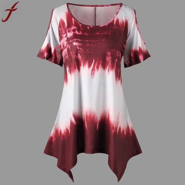 Summer Fashion Large Size Women Printing Blouse And Shirt  Plus Size O-Neck Short Sleeve Tunic Shirt  Casual Lady Big Size Tops# 4