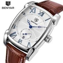 цена 2018 BENYAR Men Watch Luxury Brand Quartz Watches Men Military Leather Sports Watch Hour Date Waterproof Relogio Masculino онлайн в 2017 году
