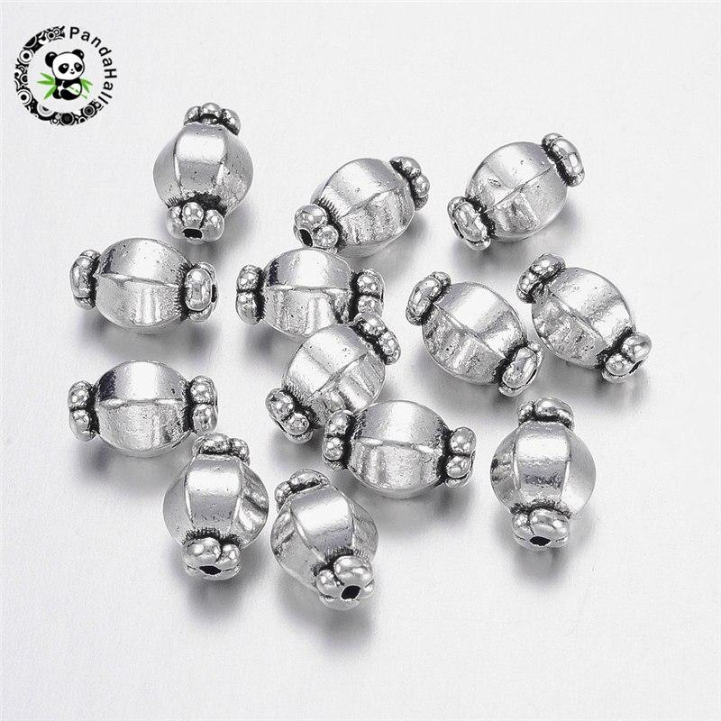 Tibetan Silver Spacer Perles en Métal Bijoux Accessoires Findings 6x3mm