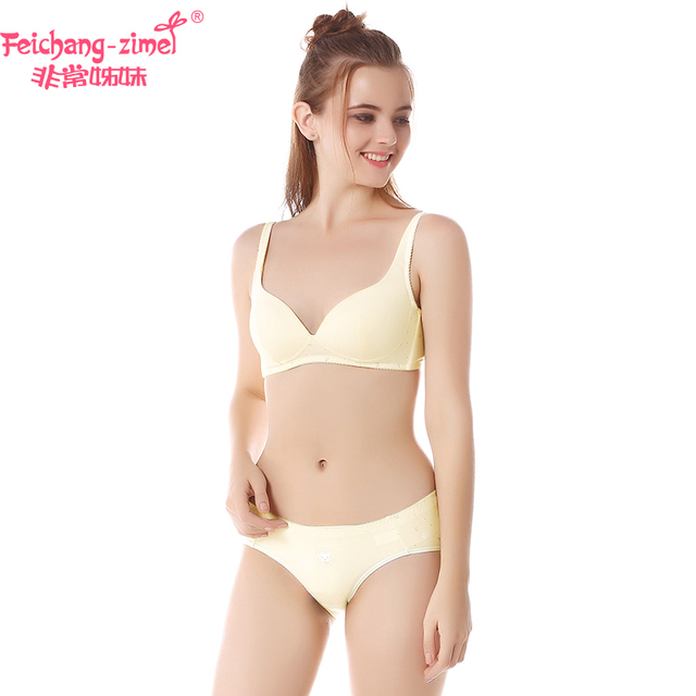 2753af49c573 Free Shipping Feichangzimei Girls Underwear Girls Bra And Panties ...