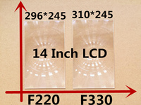 2pcs Free shipping 14 inch professional projector fresnel lens with HD fine groove pitch for DIY projector kit Fresnel Lens