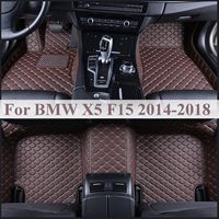5 Seat Flash mat leather car floor mats For BMW X5 F15 2014 2015 2016 2018 auto foot Pads automobile carpet cover Waterproof