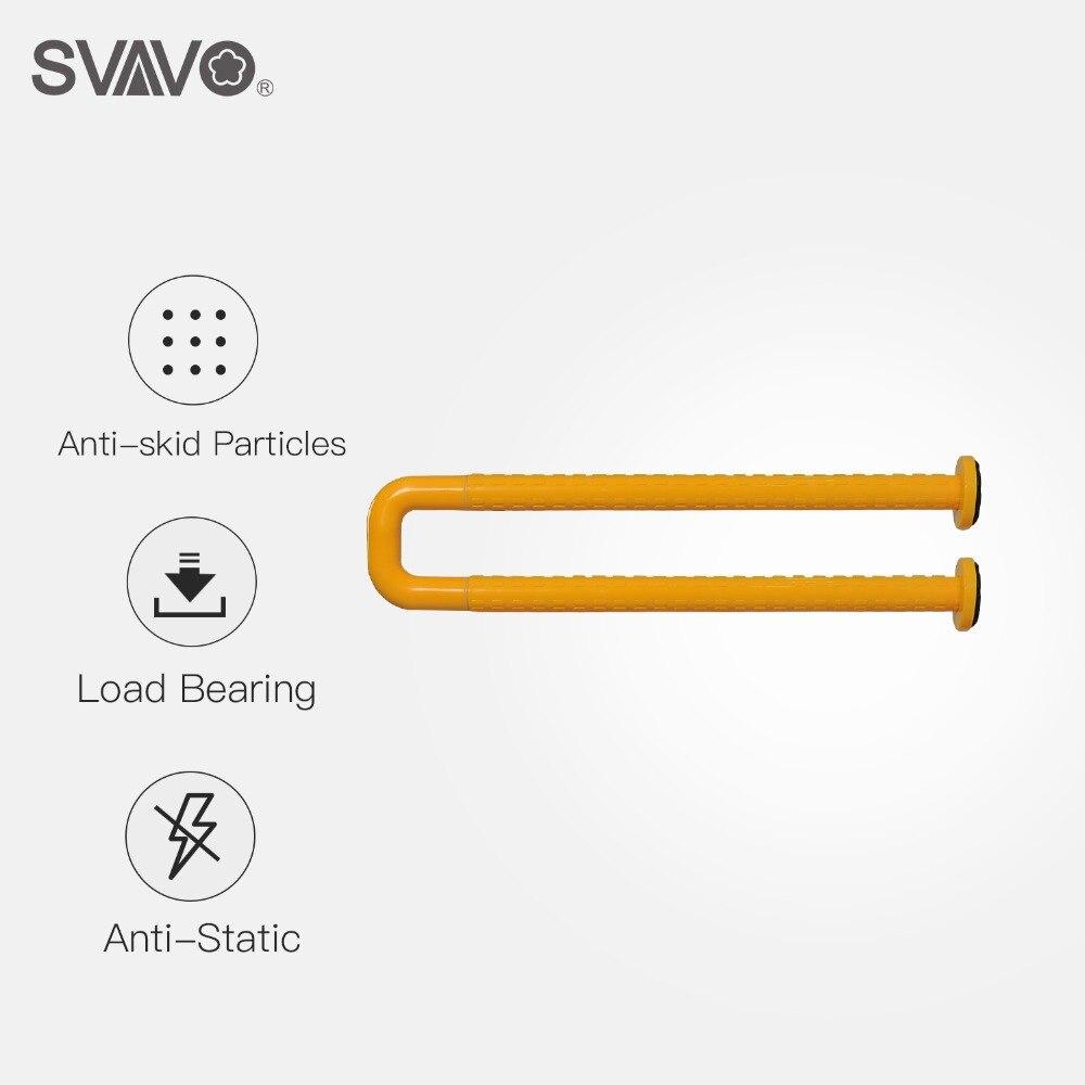 SVAVO Grab бары настенные пластиковые из нержавеющей стали Туалет u образный поручень безопасности Бар Ванная комната Душ поручни