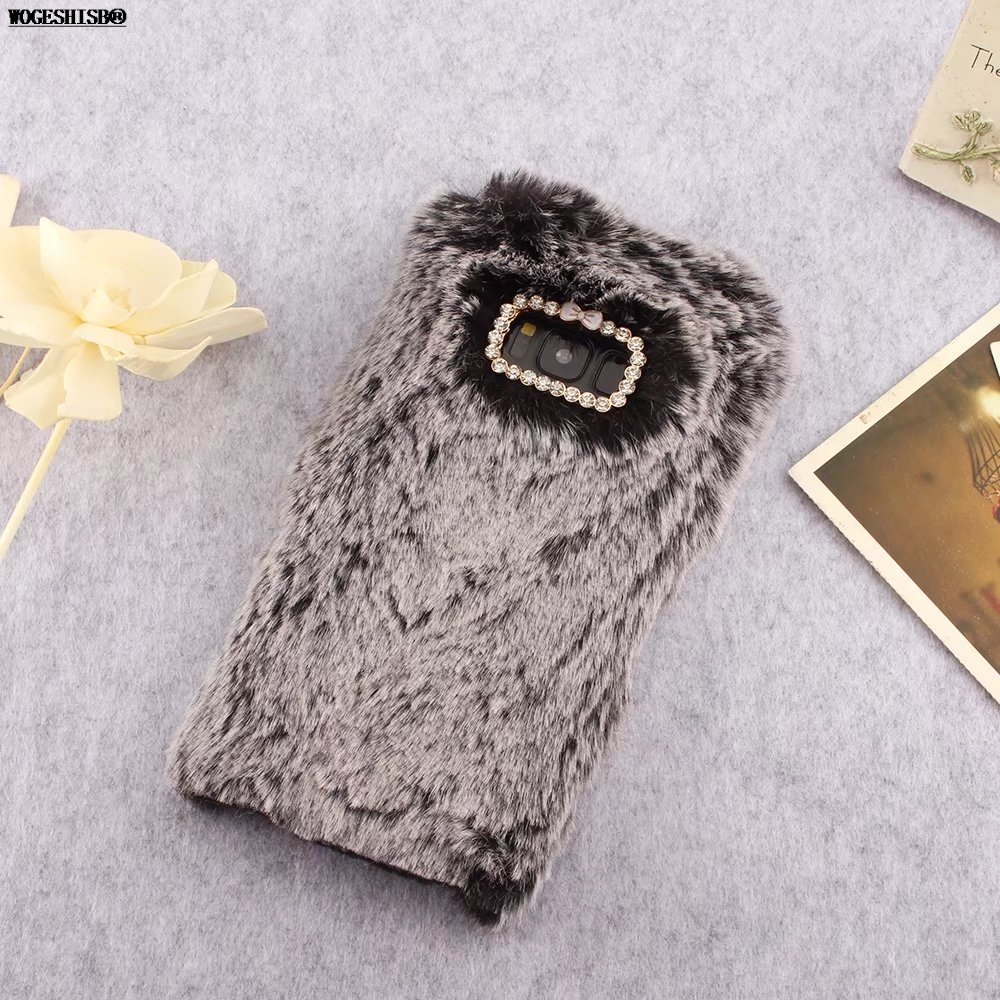 Fur Furry Case for Samsung Galaxy S3 S4 S5 S6 S7 Edge Plus S8 S9 Plus Rabbit Bunny Cases Artificial Cony Hair TPU Cover