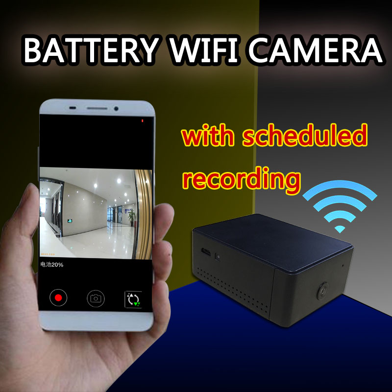 IP camera Mini battery Portable Camera P2P Wireless WiFi Video Recorder  surveillance for IOS iPhone Android Phone APP Remote