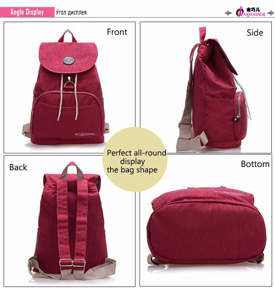 9df1cd756423 2019 Brand Waterproof Nylon Backpack Waterproof Women Knapsack ...