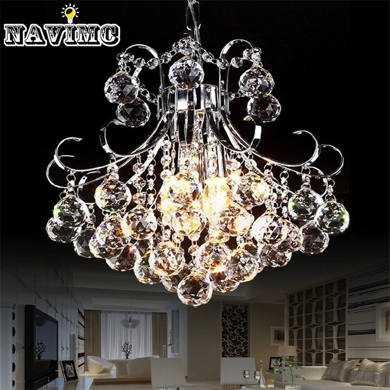 Modern Luxury 3 Light Crystal Chandelier Living Room Lamp Lustres De Cristal Indoor Lights Crystal Pendants For Sitting Room
