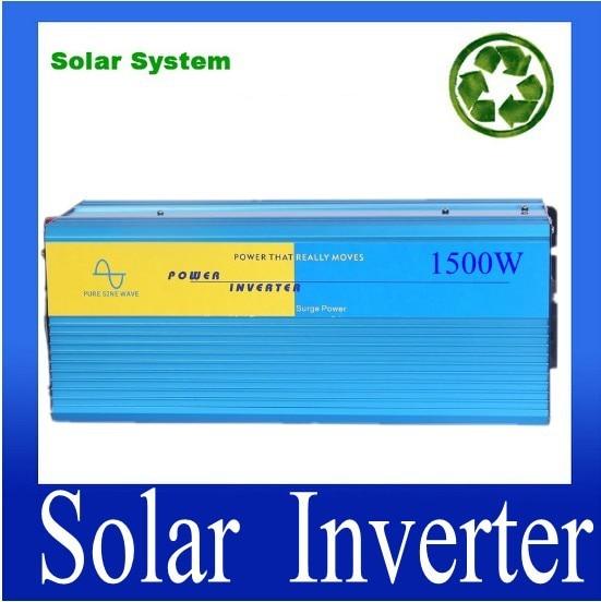цена на Full Power Aluminum Shell Off Grid Pure Sine Wave 1500W 24VDC Power Inverter