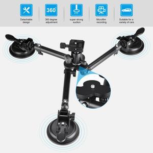 Image 3 - Araç bagaj kapağı vakum ağır üçlü vantuz tutucu dağı Canon Nikon Fujifilm DSLR kamera için araç camı filme