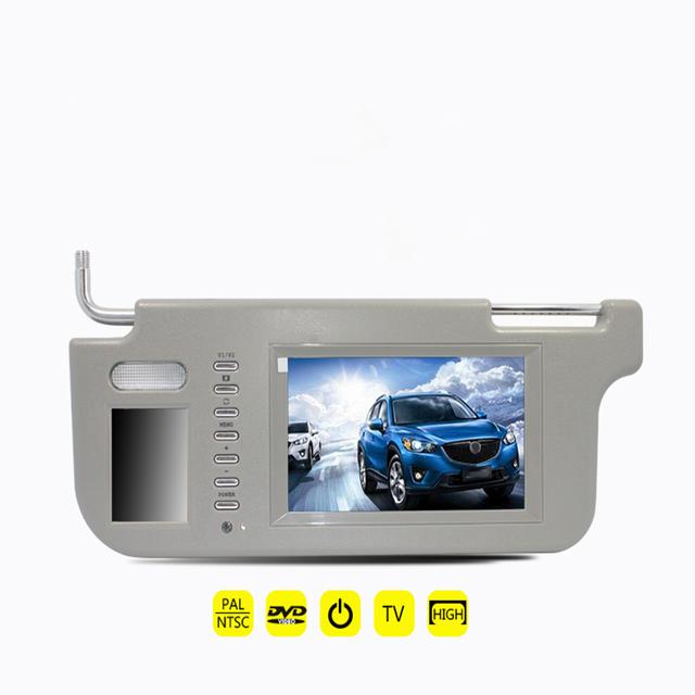"""Nueva marca de 7 """"izquierda o Derecha Car Sun Visor Monitor de 2 Canales de Vídeo para el Reproductor de DVD y Cámara de visión Trasera Del Coche de Calidad aseguró"""