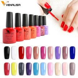 Venalisa Гель-лак для ногтей 60 цветов, высокое качество, продукт для дизайна ногтей, впитывается без запаха, органический УФ-гель для ногтей, лак,...
