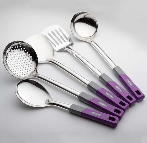 5 Pieces Set Stainless Steel Kitchen Utensils High Quality Hot Insulation Handle Tools Rice Spoon Free Shipping In Cooking Tool Sets From Home