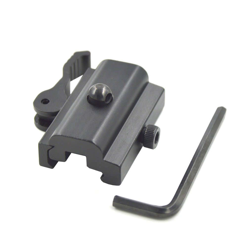 1 ST Y0055 QD Quick Detach Cam Lock Bipod Sling Adapter Mount voor Picatinny Weaver Rail 20mm Bipod of Sling Swivel Airsoft