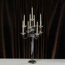 Demountable Candelabra Crystal Wedding Table Centerpiece 9 Arms Candle Holders Home Decoration Morocco Style