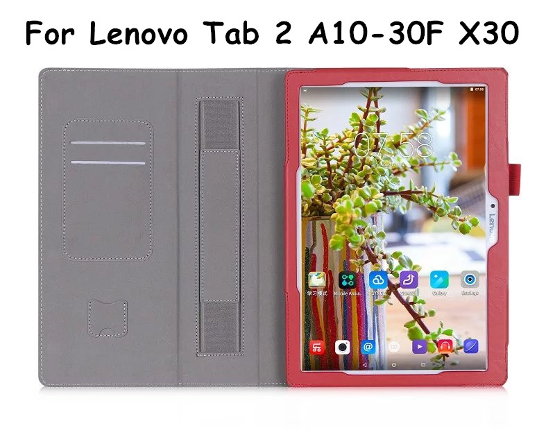 Tab3 10 business X70F/N Flip Cover For Lenovo Tab 2 A10-30F A10-30 X30 x30f TB3-X70L Tablet Case PU Leather Case Hand strap ynmiwei for miix 320 tablet keyboard case for lenovo ideapad miix 320 10 1 leather cover cases wallet case hand holder films