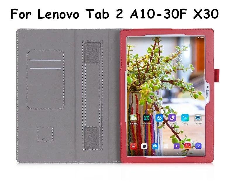 Tab3 10 business x70f/n della copertura di vibrazione per lenovo tab 2 a10-30f a10-30 case case cuoio dell'unità di elaborazione tablet tb3-x70l x30f x30 hand strap