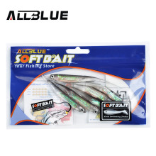 ALLBLUE Soft Lure 6pcs/lot 2.8g/95mm for Fishing Shad Fishing Worm Swimbaits Jig Head Soft Lure Fly Fishing Bait Fishing Lures