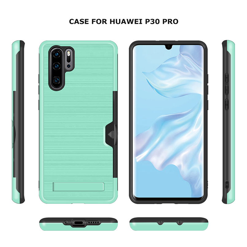 Card TPU Phone Case Stand For Huawei P20 P30 Pro Luxury Wallet Mobile Accessories For P20 P30 Pro