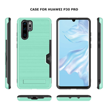 Card TPU Phone Case Stand For Huawei P20 P30 Pro Luxury Wall