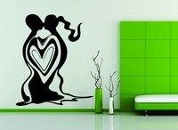 Wall Car Decor Vinyl Sticker Decal Love Heart Couple Together Men Women Kiss