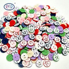 HL 11MM Butterfly Resin Buttons Mixed 30/50/100PCS Skirt  Garment Sewing Accessories DIY Scrapbooking