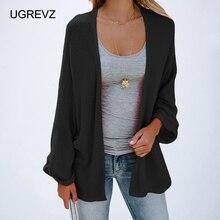 knitting long sleeve plus size pink Sweaters cardigan long coat  pink