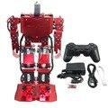 17DOF Robô-Alma vermelha H3.0 Bípede Robótica Humanóide Robô Alumínio Full Frame Kit w/17 pcs Servo + 24 Controlador de Canal