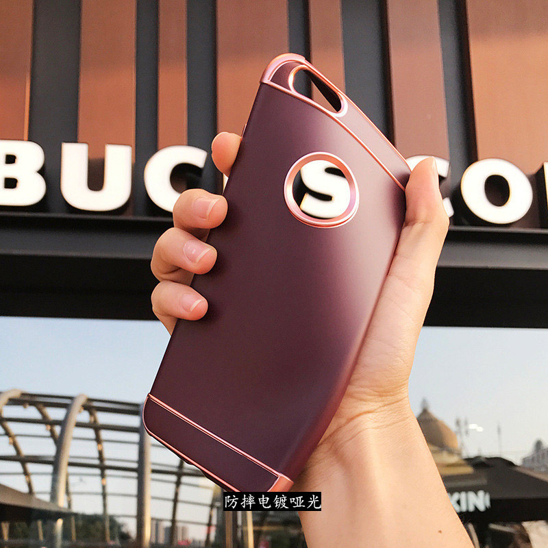 Hehan for iPhone7plus phone shell plating three for iPhoneX/6 all-inclusive TPU drop soft shell