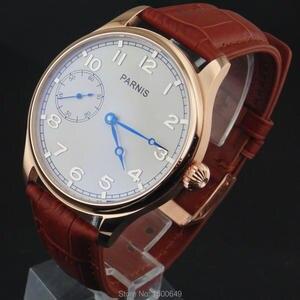 Image 3 - 44ミリメートルパーニスホワイトダイヤルケース機械式6497手巻きメンズ腕時計