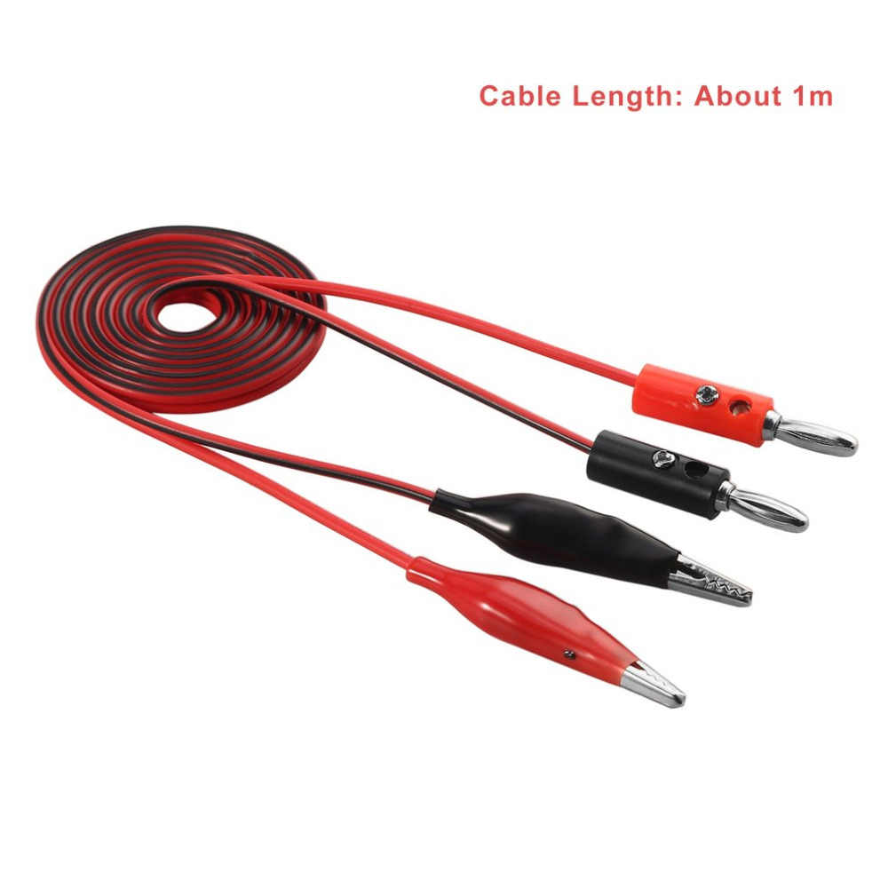 1 м Аллигатор зонд электрические Тестовые провода клип контактный кабель со штекером типа банан для цифрового мультиметра провода ручка кабель тестовый инструмент