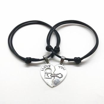 Armbänder mit trennbarem Herz für Paar