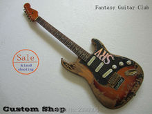 electric st Guitar classical handwork SRV Guitar by hands,Factory real photos,super heavy relics,special hardwares and pickups