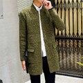 Hombres suéter 2016 nueva casual cardigans chaqueta espesar suéteres largos de punto masculinas C69