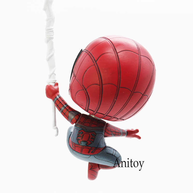 Cosbaby Marvel выпускников Железный человек и Человек-паук качающейся головой Куклы цифры Игрушечные лошадки 2 шт