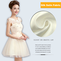 High Quality Thick Matte Silk Satin Fabric 150 100cm White Color Patchwork Sewing DIY For Wedding
