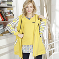 2016 Otoño e invierno moda mujeres abrigo Caliente de las mujeres embarazadas de maternidad paño Agregar abrigo de lana Envío gratis