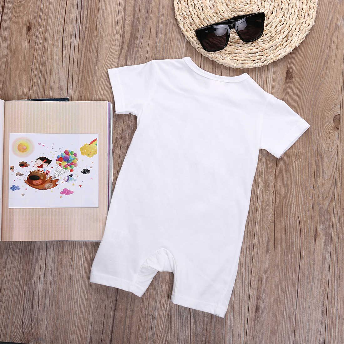 Комбинезон унисекс для новорожденных и маленьких мальчиков и девочек, повседневный комбинезон с короткими рукавами, летний сарафан