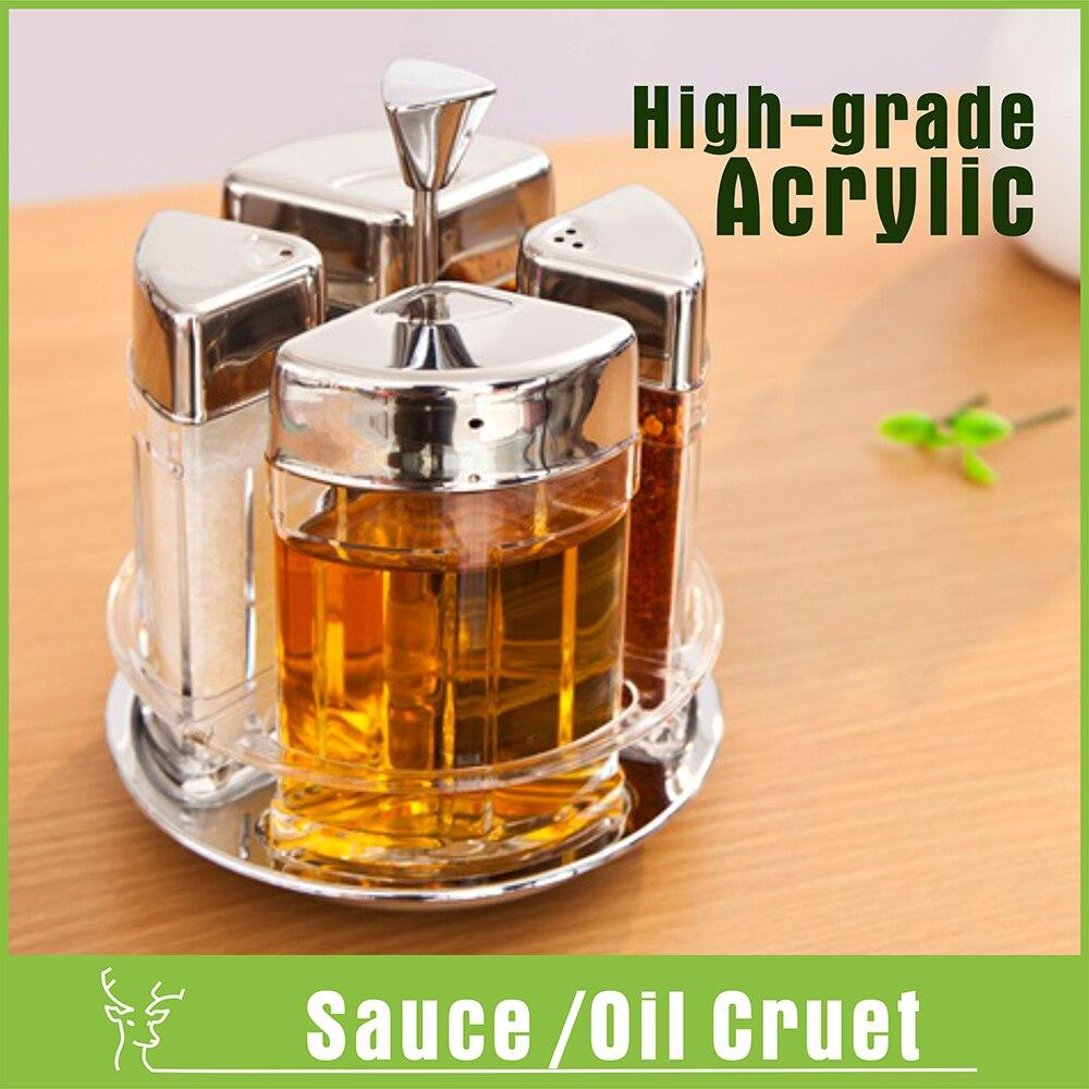 Suministros de cocina de acrílico sal azúcar aceite de botella de ...