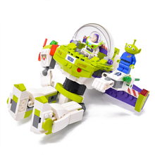 Original Buzzed Blocks Set Lightyear Space Mech 243Pcs + Toy Story 4 compatible with Legoing Building Bricks Movie 2 Kids Toys