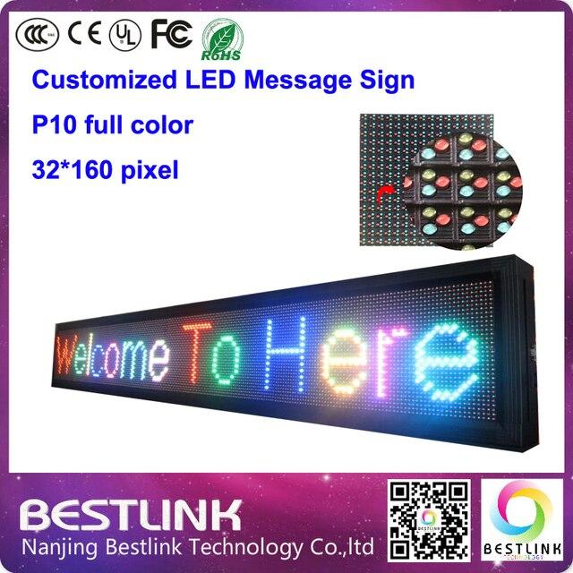 32 * 160 пикселей p10 rgb из светодиодов знак на открытом воздухе из светодиодов реклама электронное табло из светодиодов прокрутки сообщения такси верхний знак из светодиодов diy комплекты