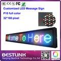 32 * 160 pixels p10 rgb led sinal publicidade ao ar livre levou placar eletrônico led rolagem mensagem táxi sinal topo led kits diy