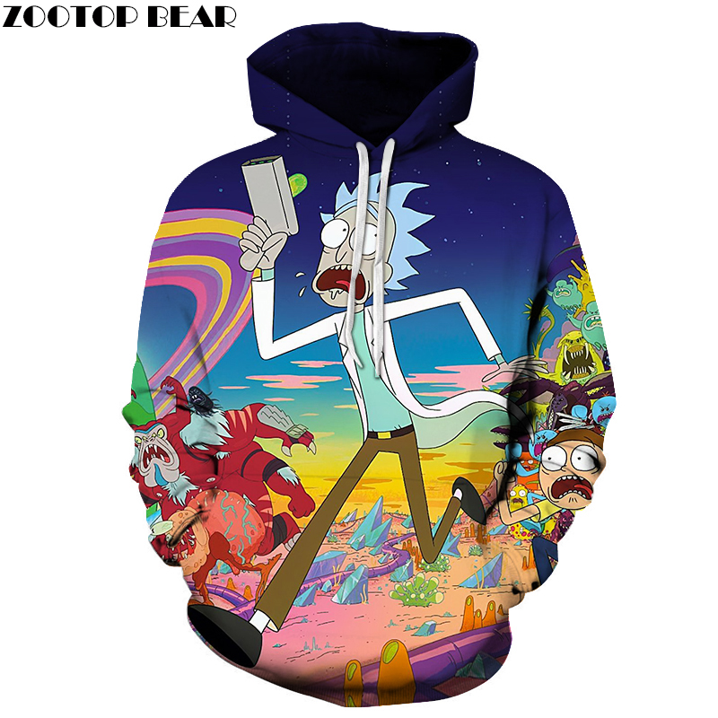 Rick and Morty Hoodies Men Women 3D Hoodies Comic Sweatshirts Printed Pullover Plus Size Quality Tracksuits Mlae Jakcets Coats