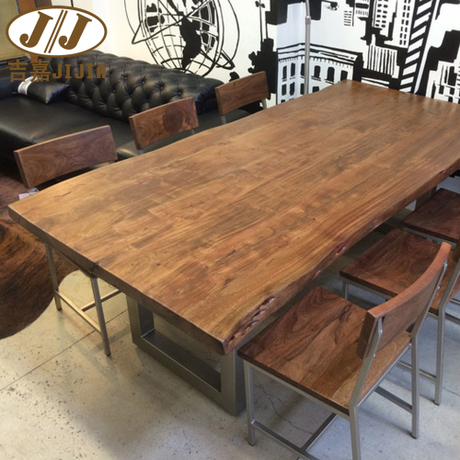 American Retro Iron Loft Wood Desk Bar Table Dining Table Tops Do - Wood dining room table tops
