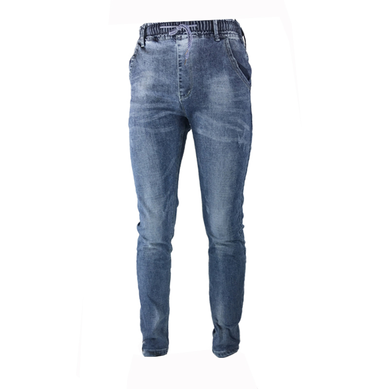 Men's New Fashion Jeans Stretch Elastic Pants Fit Denim Casual Slim Jeans Men's Brand Wear Color Blue 29-36