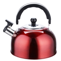 Real Hot Sale Red Whistling Kettle For Gas Stove Bouilloire 3l Stainless Steel Whistle Tea