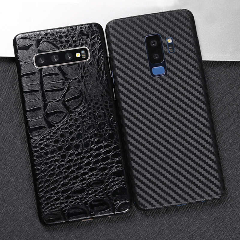 3D Carbon Fiber Skins Film Wrap Skin Phone Back Paste Film Sticker For SAMSUNG S10 Plus S10e S9 S8+ Note 10+ Note 8 9 A9 2018