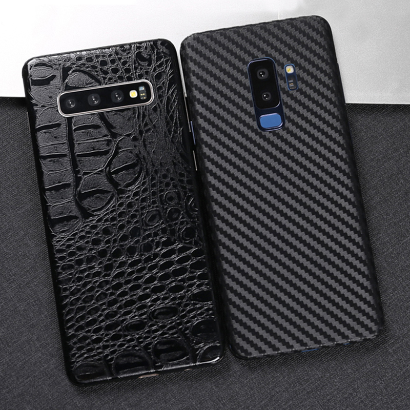 3D Carbon Fiber Skins Film Wrap Skin Phone Back Paste Film Sticker For <font><b>SAMSUNG</b></font> S10 Plus S10e S9 S8+ Note 10+ Note <font><b>8</b></font> 9 A9 <font><b>2018</b></font> image
